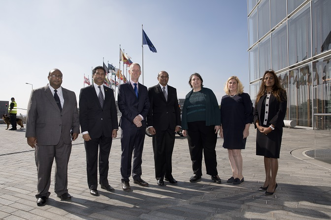 Sri Lanka Minister for foreign affairs Tilak Janaka Marapana visit the EIB in Luxembourg
